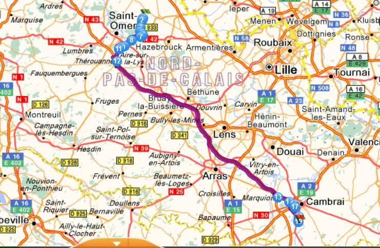 Coupe de France 2014/2015 :  ASNZ / Masnières (4 ème tour) Itiner10