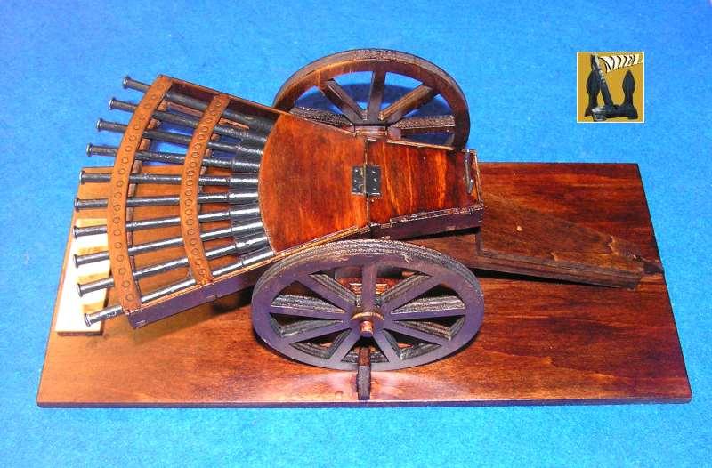 Amandine vous présente le montage de  la mitrailleuse de Léonard de Vinci 1711