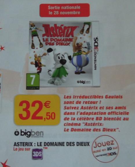 Asterix Le Domaine Des Dieux - Jeux Officiel Nintendo 3ds Du Film (novembre 2014)  Sans_t46