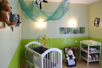 re-déco chambre bébé theme jungle Bienve10
