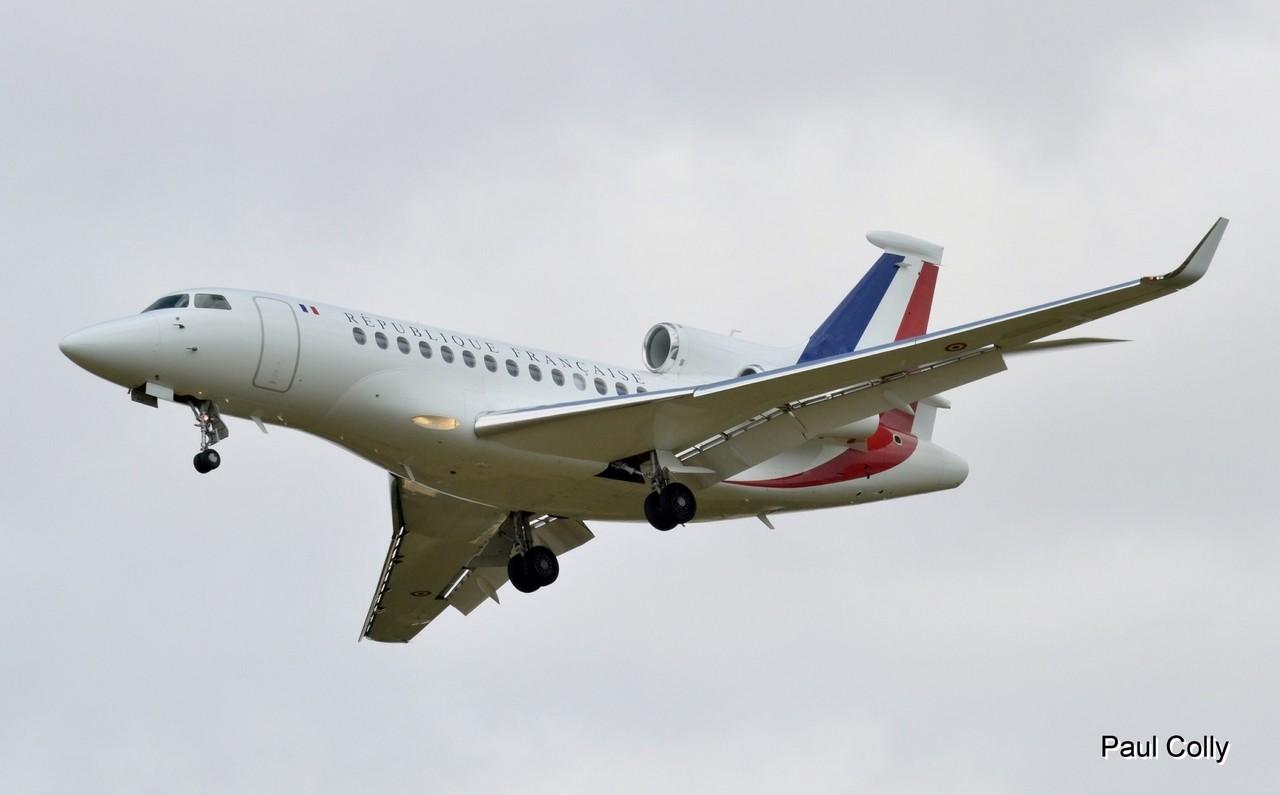"""Falcon 7x """"République Française"""" le 24 juillet 2013 Falcon20"""