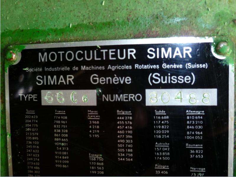 Mon dernier motoculteur , un Simar 66 30710