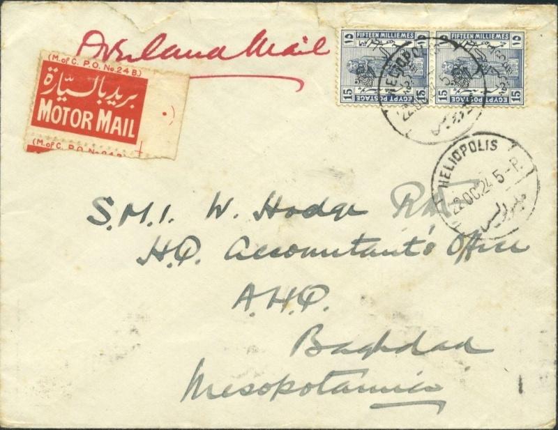 Ägypten  -  Briefe und andere Poststücke 31_mot10