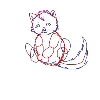 Chibi Wolf tutorial Tuto_410