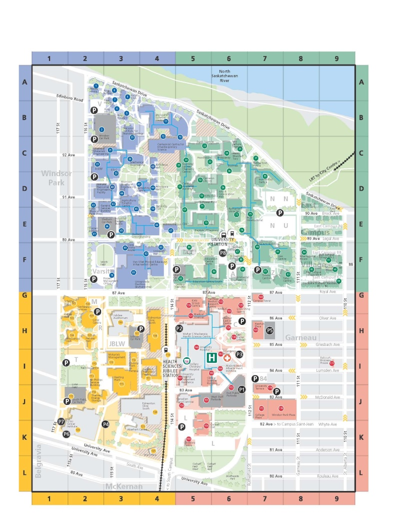 University Of Alberta Campus Map University of Alberta Campus Map University Of Alberta Campus Map