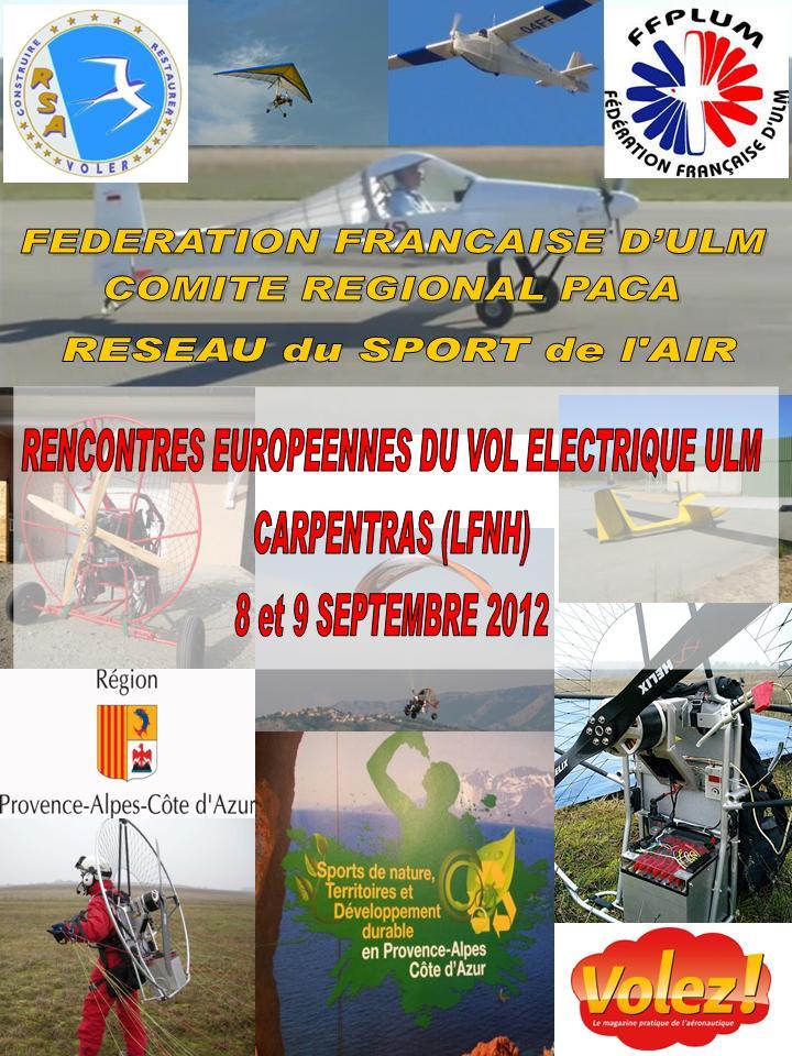 [08 et 09 /09/2012] Rencontres européennes du vol électrique ULM à Carpentras LFNH Affich10