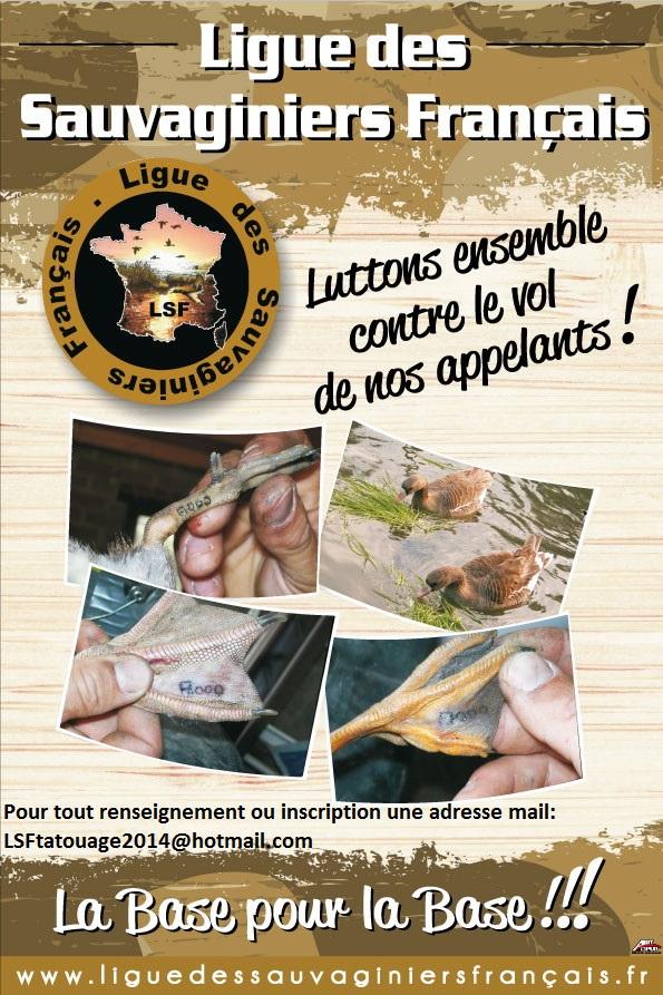 Inscription pour la session de tatouage de vos appelants en Gironde Affich10