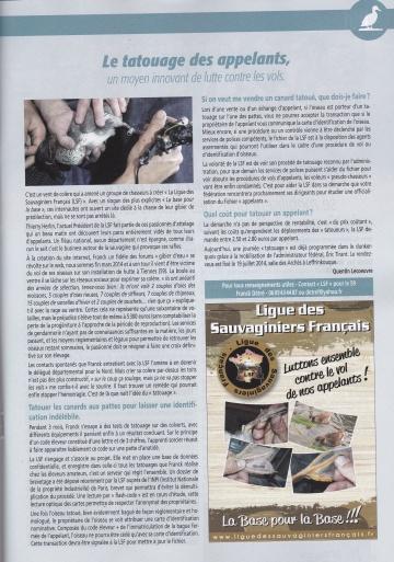Article dans Le chasseur du Nord n°86 Articl10