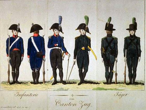 Milice du canton de Zoug ( Zug) 1804-1810 Canton10