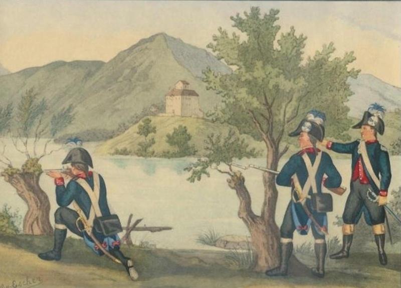 Milice du canton de Zoug ( Zug) 1804-1810 Zug_in10