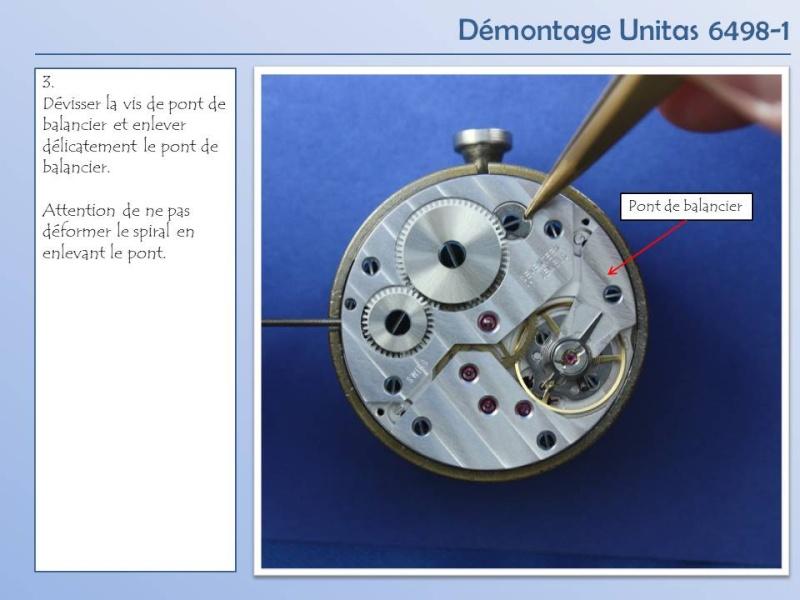 Démontage et remontage Unitas 6498 6498-d12