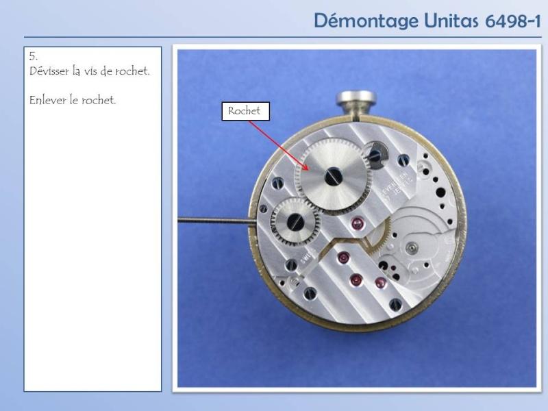 Démontage et remontage Unitas 6498 6498-d14