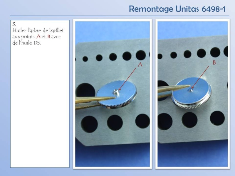 Démontage et remontage Unitas 6498 Diapos12