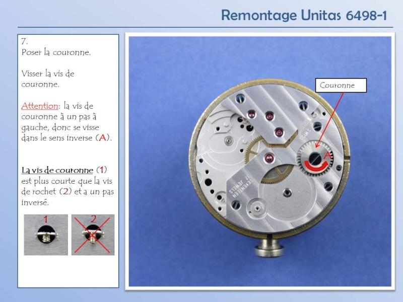 Démontage et remontage Unitas 6498 Diapos16