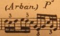 Notation (Arban) sur partition ancienne 110