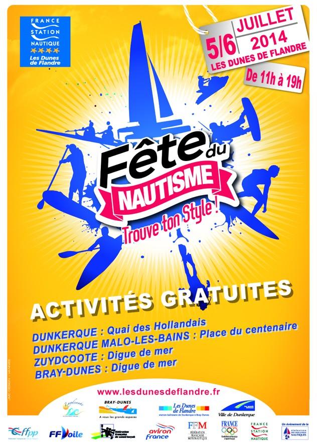 Fête du nautisme les 5 et 6 juillet 2014 Affich10