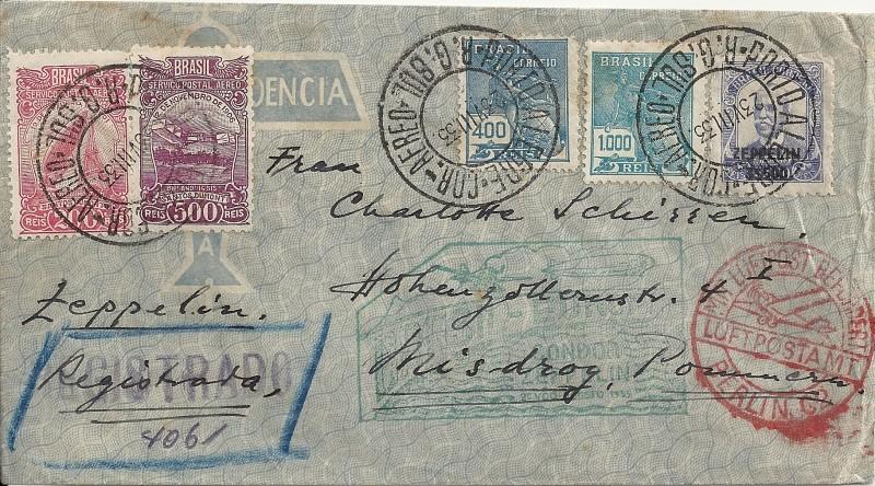 Zeppelinpost aus Brasilien Brasil10