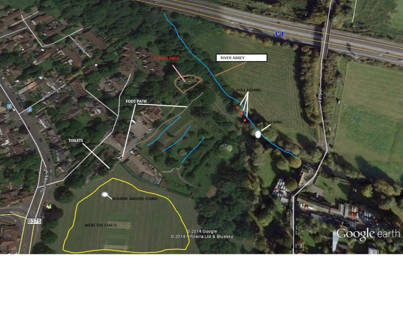 BOURNE ANGLERS AND BLACK CHERRY FAIR CHERTSEY 12 JULY Map_of12