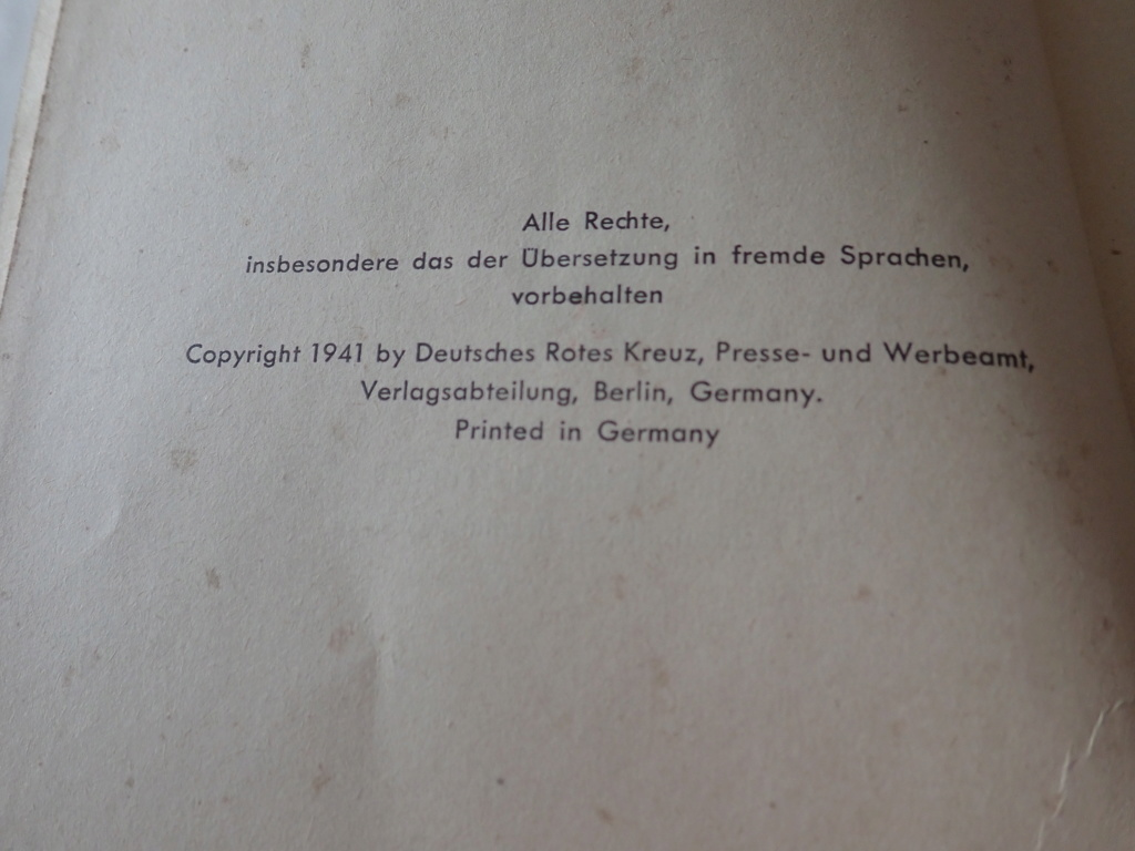 livre allemand d'instruction officiel sur les premiers secours 1941 P9152412
