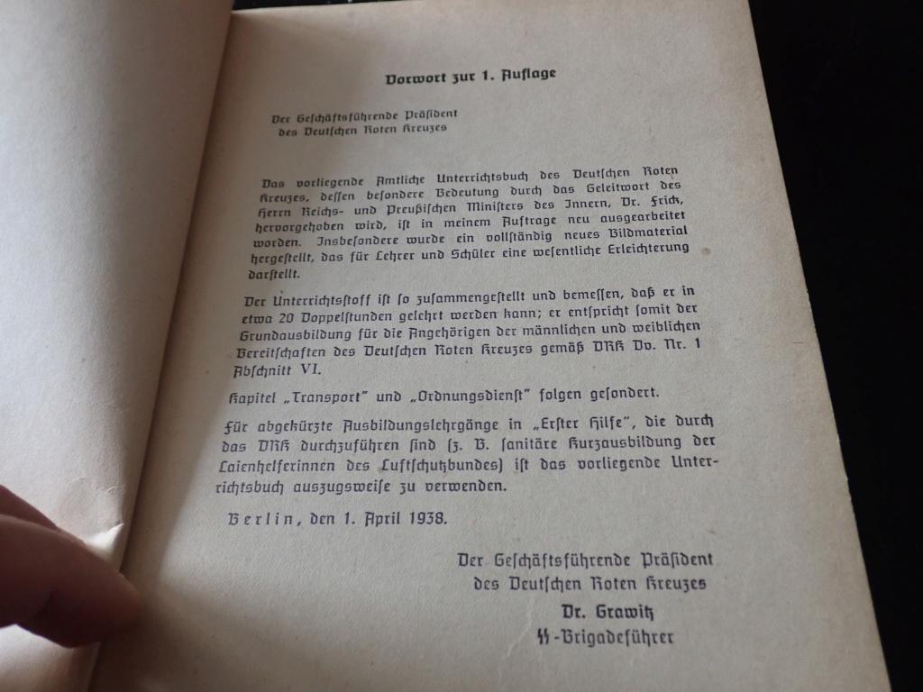 livre allemand d'instruction officiel sur les premiers secours 1941 P9152414