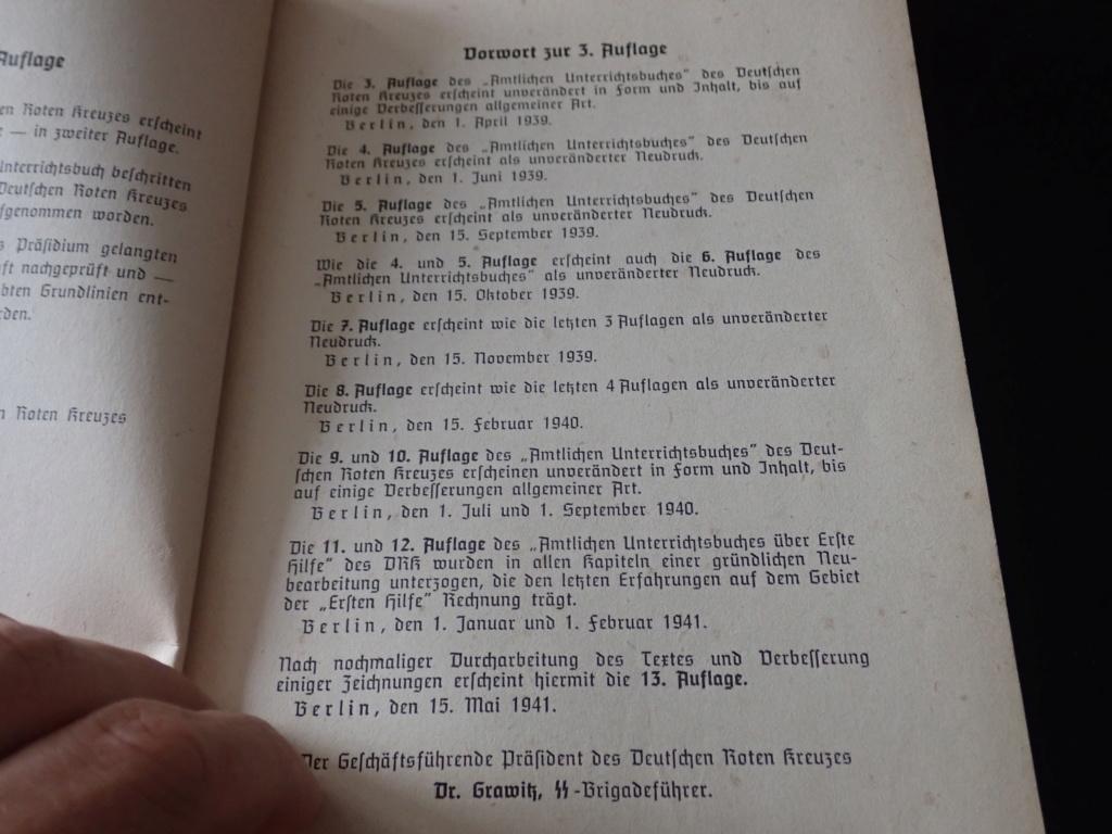 livre allemand d'instruction officiel sur les premiers secours 1941 P9152415