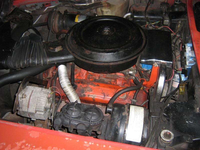 Corvette C3 76 en cours de restauration Engine10