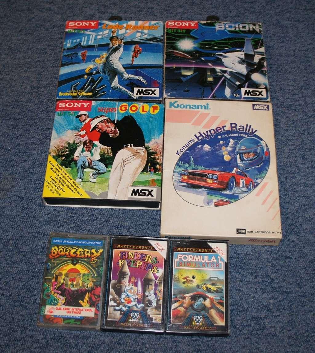 [Vente]  Sony MSX1 à vendre, Cartouches, et cassettes Dsc04211