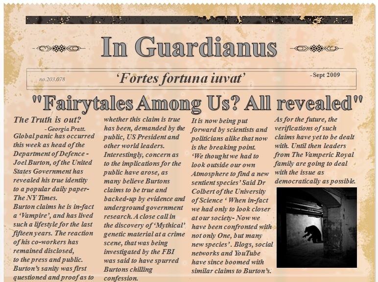 2009 NEWSPAPER ARTICLE -  Mythicals Confess News_a11