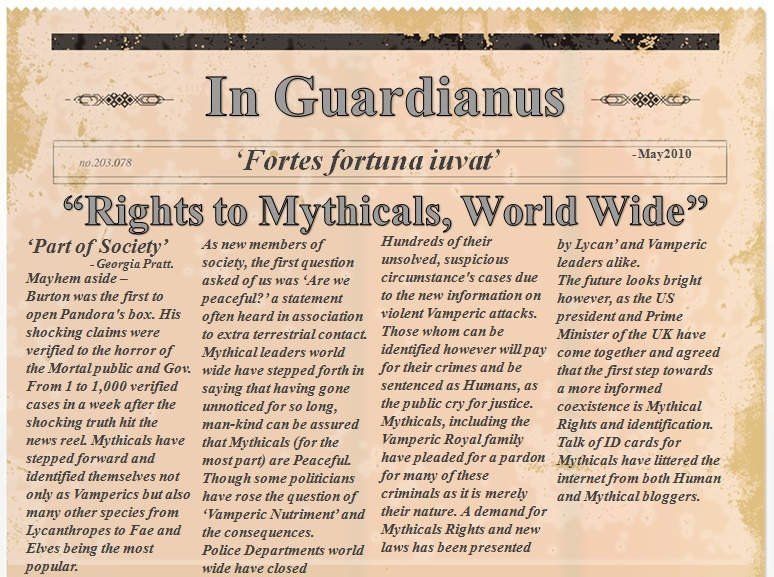 2010 NEWSPAPER ARTICLE - Mythical Rights? News_a12