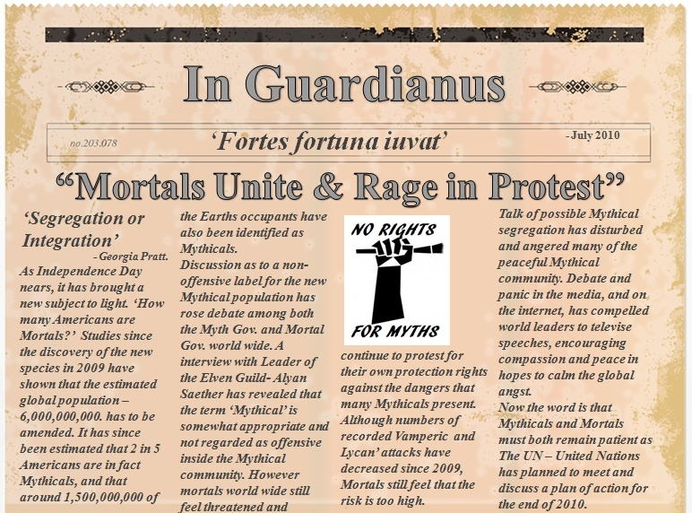 2010 NEWSPAPER ARTICLE - Mortal Protest News_a13
