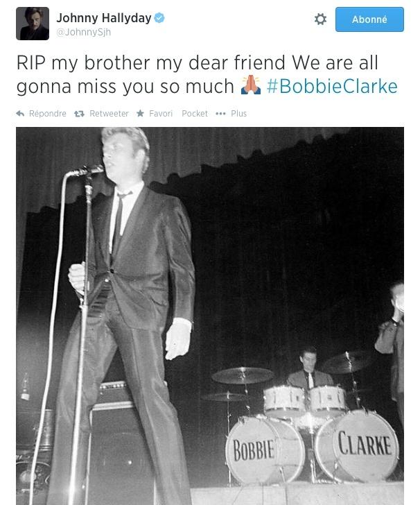 """BOBBIE CLARKE, batteur de JOEY & THE SHOWMEN (""""Les rocks les plus terribles""""). Captur10"""