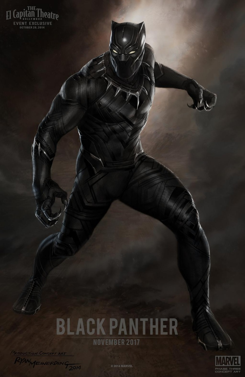 Chadwick Boseman Is 'Black Panther', Suit Concept Art Revealed Blackp11