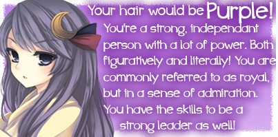 What anime hair color suits you? ;3; Waht10