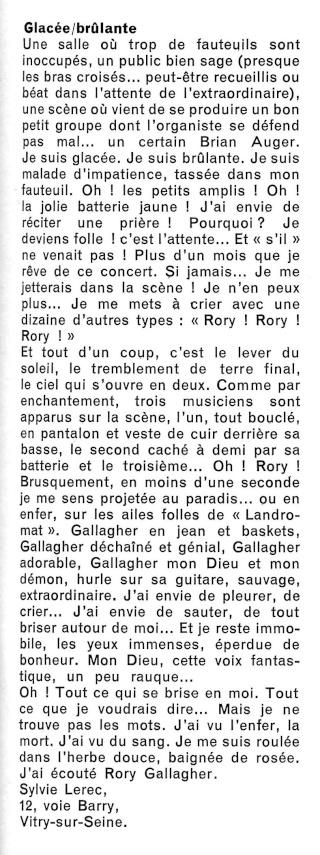 Rory Gallagher dans la presse française R61-3714