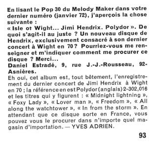 Jimi Hendrix dans la presse musicale française des années 60, 70 & 80 - Page 3 R61-3914