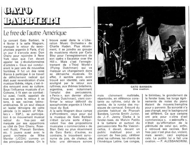 Gato Barbieri : Fenix (1971) R62-3910