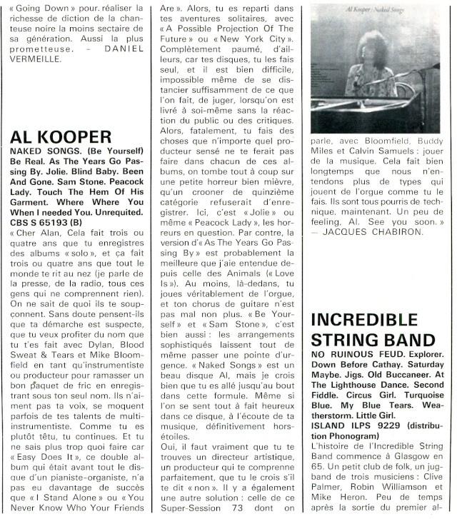 Speakeasy TV-SHOW : Mike Bloomfield, Al Kooper & Alvin Lee (1974) R76-7215