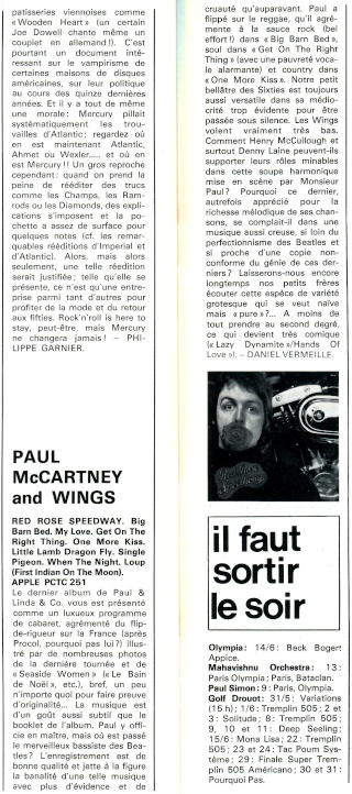 Paul Mc Cartney & Wings: Red Rose Speedway R77-7211