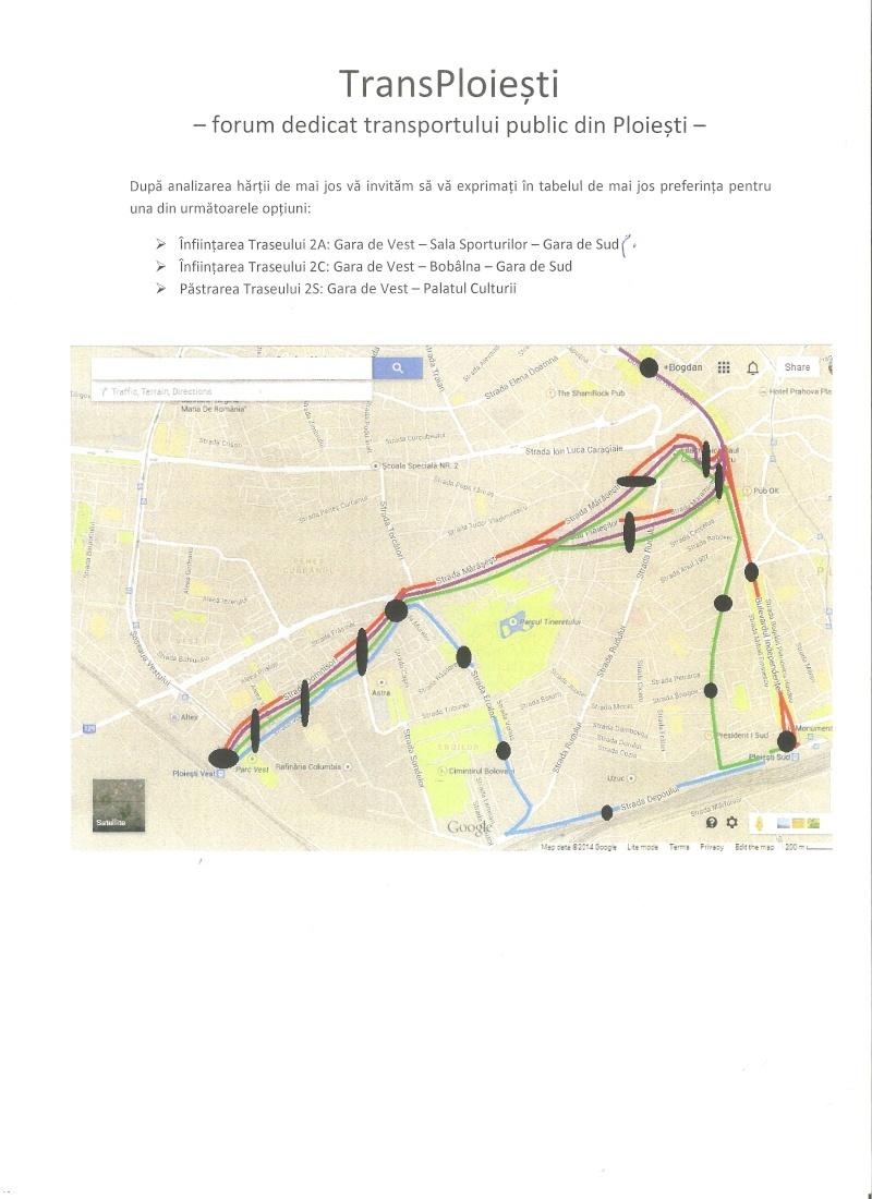 CHESTIONAR DE OPINIE: Scurtarea / Devierea traseului 2 212