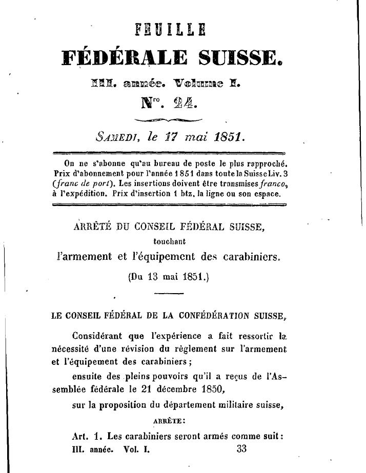 Ma Carabine Fédérale Suisse 1851 Ffs110