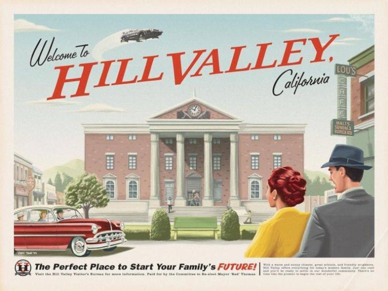 Back To The Future: Décors réels de Hill Valley reconstitués en Angleterre. 10440810