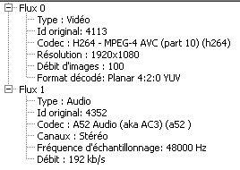 Lire un fichier MTS avec VLC G510