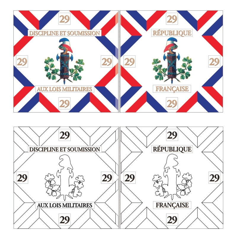 PORTE DRAPEAU 29e demi brigade 1794 - France 29ebis10