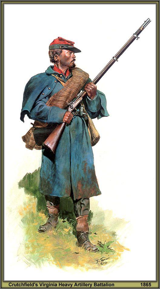 ARTILLEUR CONFÉDÉRÉ Virginia heavy artillery • 1864 Don_tr10