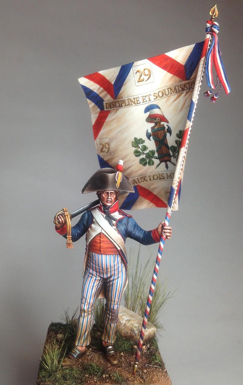 PORTE DRAPEAU 29e demi brigade 1794 - France Img_0816