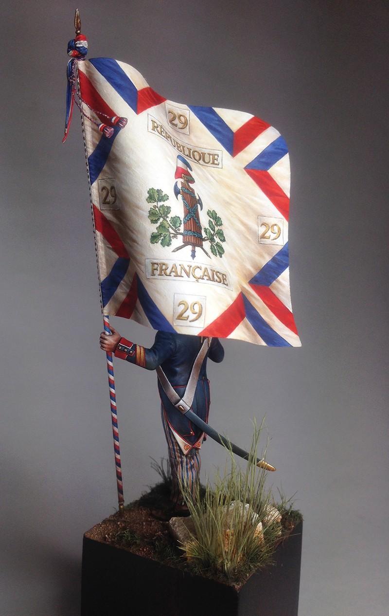 PORTE DRAPEAU 29e demi brigade 1794 - France Img_0818