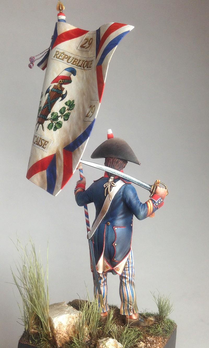 PORTE DRAPEAU 29e demi brigade 1794 - France Img_0819