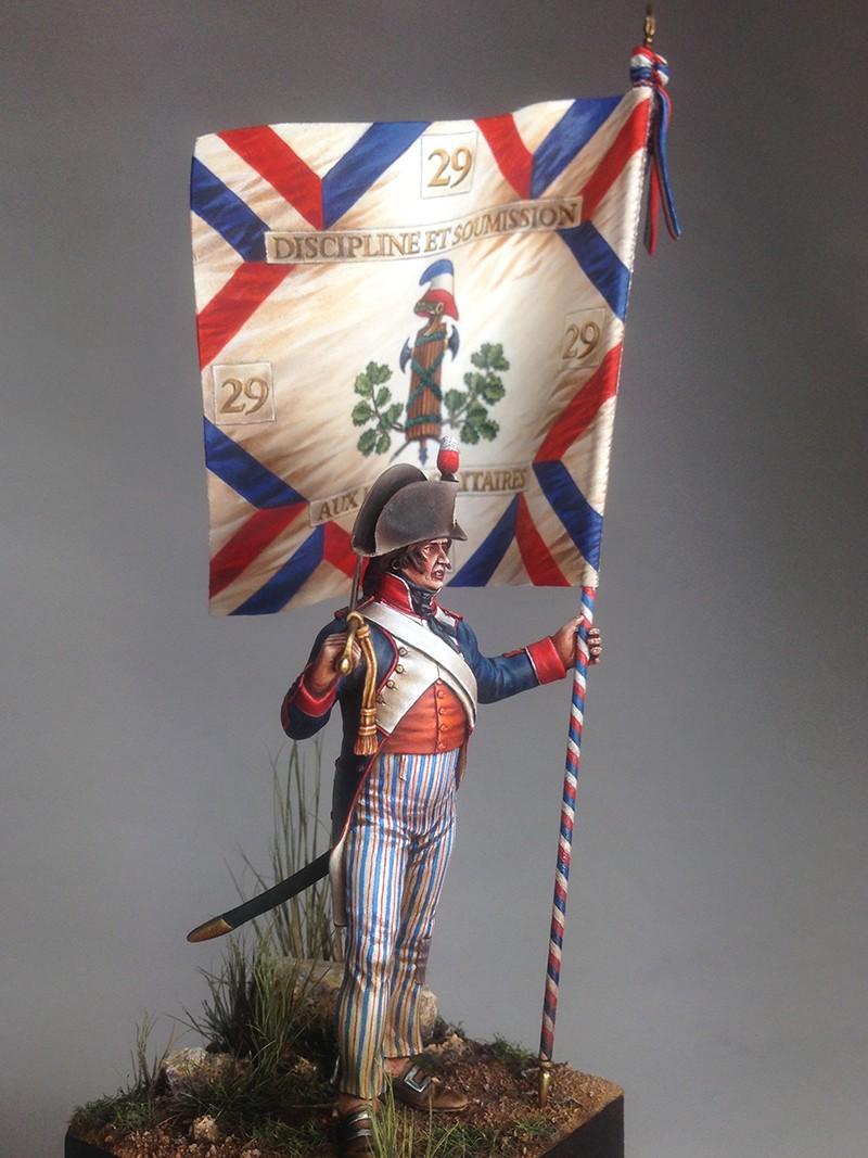 PORTE DRAPEAU 29e demi brigade 1794 - France Img_0820