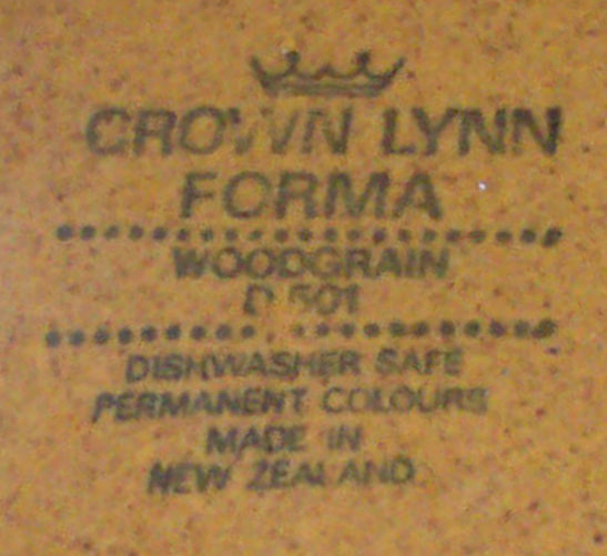 Crown Lynn Forma Woodgrain D501 Woodgr11