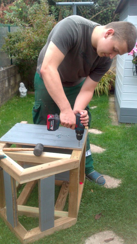 Fabrication cabane pour chat  Dsc_0610